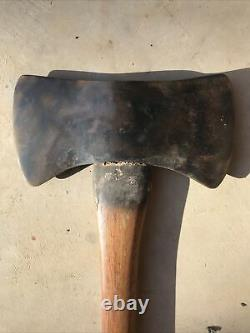 True Temper Red Warrior Kelly Works Double Bit Axe Head With Handle With A Knife