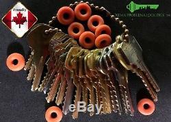 Ultimate Bump Key / depth key set of 28 keys with 20 bump rings
