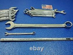 VINTAGE 13pc ARMSTRONG USA SAE LONG COMBINATION WRENCH SET 5/16 TO 1 TOOL LOT