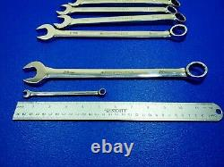 VINTAGE ARMSTRONG LONG METRIC COMBINATION WRENCH SET 7MM TO 22MM 15pc TOOL LOT