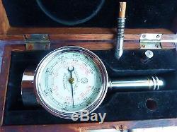 Vintage Industrial Tool Tachometer Schaeffer & Budenberg 1883 American