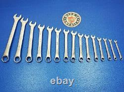 VINTAGE SK METRIC COMBINATION WRENCH SET 7MM TO 22MM SHIPS FREE 15pc TOOL LOT