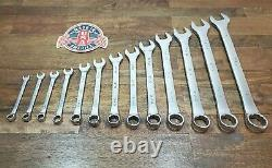 VINTAGE SK USA SAE COMBINATION WRENCH SET 5/16 TO 1 SHIPS FREE 13pc TOOL LOT