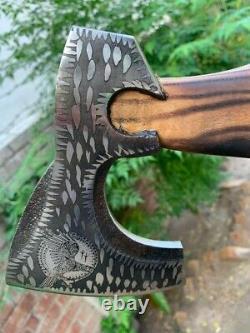 Viking valknut axe
