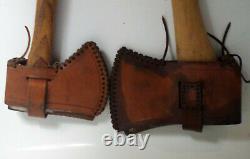 Vintage 1.7lbs Norlund Hatchet Sheath and CARANT /Tltis Ox-Head 3.1 lb Orig Axe