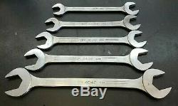 Vintage 5 Piece MAC Tools Big Open End Wrenches DR 4042, 3436, 3032, 2630, 2428