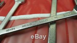 Vintage BONNEY METRIC OPEN END WRENCH SET 11pc. With tool roll size 6mm 32mm