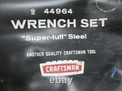 Vintage Craftsman Tools USA 9-44964 14 Pc Sae Combination Wrench Set 3/81-1/4