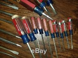 Vintage Flat Head Craftsman Screwdrivers (LOT OF 30)
