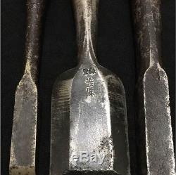 Vintage Japanese 27 Chisel Nomi Carpentry Tools lots whole sale F/S FROM JAPAN
