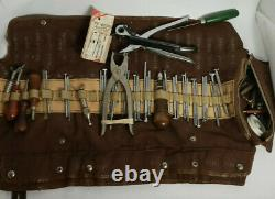 Vintage Leather Kit Stitching Sewing Beveler Punch Working Hand Tools Skife