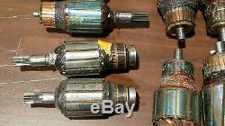 Vintage Lot 9 Pieces Power Tool Motor Armatures Black and Decker Dewalt Other
