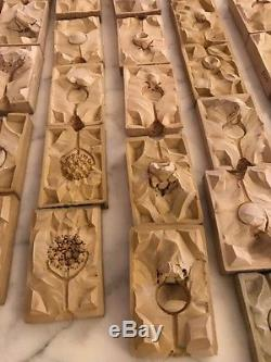 Vintage Mixed Lot of 50 Ring & Pendant Mid-Century Rubber Jewelry Molds