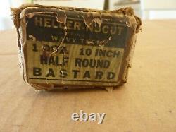 Vintage NOS Heller Bros. Nucut 1 Doz. 10-Inch Half Round Bastard Files