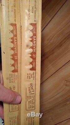 Vintage Sandvik 21 bow saw blades 4 nos in packaging plus 1 lot of 5 36 blades