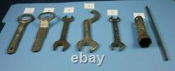 Vintage Wrench Tool Lot KAWASAKI Mito Spark Suspension Box 12/13 14/17 22 27 32