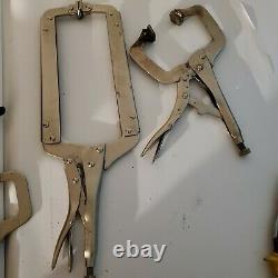 Vtg tool Lot Petersen VISE GRIP Locking Pliers Welding Body Clamps Kreg