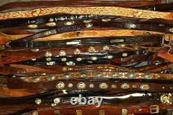 WHOLESALE LOT Western CONCHO Tony Lama Justin etc LEATHER BELTS RESELL UPCYCLE