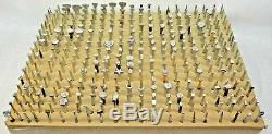 WOW! 344 Pcs CRAFTOOL LARGE LOT LEATHER CRAFT STAMPING TOOLS STAMP USA