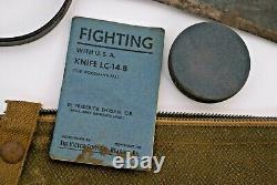 WW II WOODMAN'S PAL VICTOR TOOL CO FIGHTING with the U. S. A. KNIFE LC-14-B ORIG