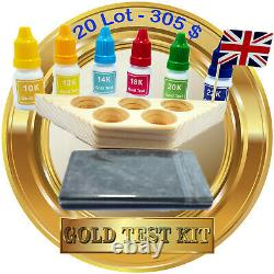 Wholesale LOT 20 sets Gold and Silver Test Kits, Jewelry, Coins, Scrap, Check