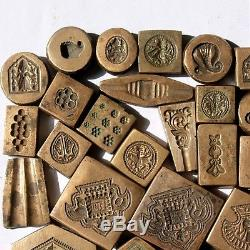 Wholesale Lot 38 Pc Antique Style Mix Design Bronze Jewelry DIE/MOLD/STAMP #1115