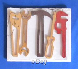 Wholesale Lot Hand Tools Christmas Ornaments Set of 5 hand cut Lot of 25