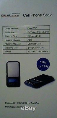 Wholesale Lot of 35 DigiWeigh Digital Scales (Cell Phone)100 Gram by 0.1g BNIB