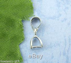Wholesale Lots Silver Pinch Clip Bail Beads 513mm