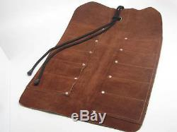 Woodcarving Gunsmith Lino Tools 10 Pocket Leather Roll RAMELSON USA 107 209