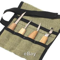 Woodcarving Knives 4ps Tools Set TOP Kit Hook Whittling Spoon Carving Knife Tool