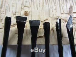Woodcarving Kunimitsu Japanese Mallet Carving Tools Set Super Sharp 52B6
