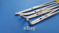 Zeppelin Hysterectomy Clamps Set of 4 Pieces Gynecology Medical Clamps Tools